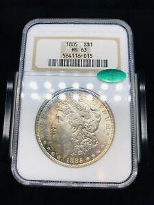 1885 Morgan Silver Dollar NGC MS63 CAC - Old Holder - Toned