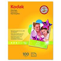 Kodak Photo Paper for inkjet printers, Gloss Finish, 200 Sheets.