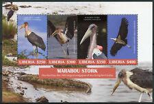 Liberia 2019 MNH Marabou Stork 4v M/S Crocodiles Storks Birds Stamps
