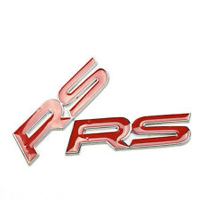 Reliable Hot RS Car Badge Emblem Sticker 3D New ACRYLIC TOP QUALITY   KF