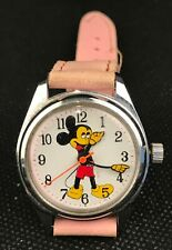 Montre Watch vintage, Mickey mouse. Mécanique, one Jewel Unadjusted. Swiss Parts