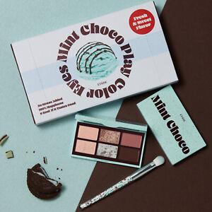 ETUDE Play Color Eyes Mini Mint Choco Special Kit Shadow 6g + Brush 1ea K-Beauty