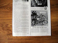 1959 Huffy Bicycle Ad New Bike Converts Boy's Girl's