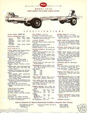 Truck Brochure - White - 7218 - School Bus Coach Chassis - 1954 (Tb534)