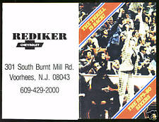 1979 PHILADELPHIA 76ERS REDIKER CHEVROLET BASKETBALL POCKET SCHEDULE