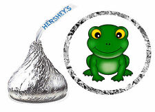 216 FROG BIRTHDAY PARTY FAVORS HERSHEY KISS LABELS