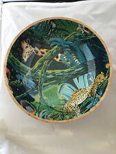 "Opal House Mango Wood Decorative Bowl Jungle Giraffe Leopard 10"""