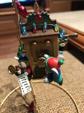 TRADITIONS/ENESCO LIKE CHRISTMAS ORNAMENT: MICE ON OLD FASHIONED PHONE NEW