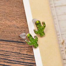 1 Pair Enamel Cactus Ear Studs Earrings Jewellery Cute Cartoon Design Fashion
