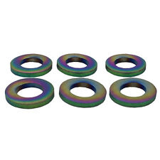 6 Pieces M6 Colorful Titanium M6 Flat Bolt Washer Bicyle BMX Bike MTB Ti-6Al-4V
