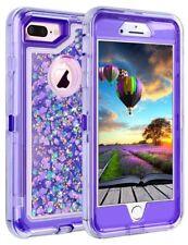 iPhone 7 8 Plus X Glitter 3D Bling Sparkle Flowing Liquid Quicksand Case Cover
