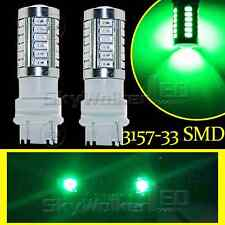 2pcs Green 3157 T25 5730Chip 33SMD LED Bulbs For Daytime Running Lights DRL Lamp