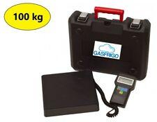 BILANCIA ELETTRONICA 100 Kg RICARICA GAS REFRIGERANTE R404A R410A R134A