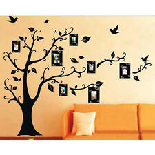 Removable Family Photo Frame Black Tree DIY Wall Sticker Wall Decal Room Decor
