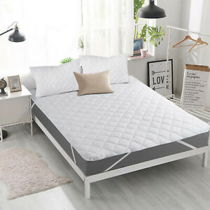 Extra Deep 30cm Quilted Mattress Protector Topper Cover Single Double King Size