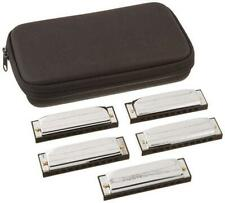 Hohner Progressive Special 20 5-Piece Harmonica Pro Pack w/ Case G A C D E Keys