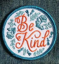 Be Kind iron on patch embroidered patch