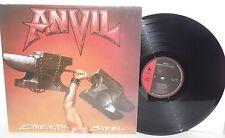 ANVIL Strength Of Steel LP 1987 Enigma Metal Blade Records Heavy Metal Vinyl
