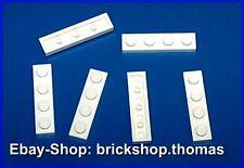 Lego 6 x Platte (1 x 4) - 3710 weiß Platten - White Plate - NEU / NEW
