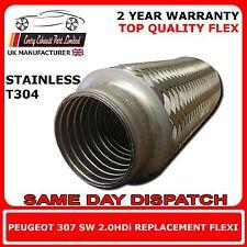Peugeot 307 2.0HDi SW 2002-Onward DIY Weld On Replacement Repair Flex Flexi