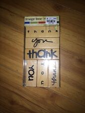 Image Tree Wood Stamps THANK YOU
