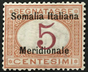 Italy Somalia Tax Sassone n. 1 MNH**  cv 130$ Super Centered