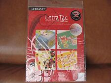 Letraset Letra Tac Sample Pack. Made 2008. 20 Sheets of adhesive dots.UK P&P inc