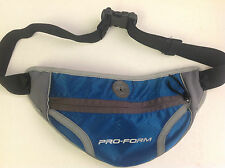 Pro Form Fanny Pack Blue 1.5 inch adjustable web waist strap Headphone port