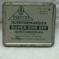 Vintage Tin ONLY Injecta Injektionskanulan Super Err Eff Aus Chroman