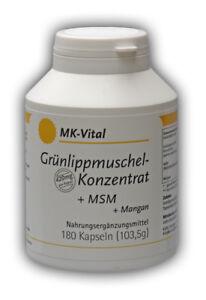 180 Kapseln a 420mg Grünlippmuschel - Konzentrat + MSM + Mangan