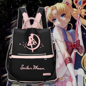 Sailor Moon Cosplay Backpack Anti-thief Shoulder Bag School Bookbag Travel Totes