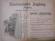 FIRENZE_MACCHINE TIPOGRAFICHE ANTICHE_ROTATIVA PER GIORNALI_AUGSBURG_PUBBLICITA'