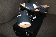 """Naturalizer Women's Leather Sandals, Navy Blue, """"Scout"""" Size 6.5 W"""