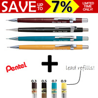 NEW Pentel Mechanical Pencil Pacer Automatic Drafting + HB Lead Refills P203579