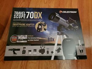 Celestron Travel Scope 70 DX Portable Refractor Telescope with Backpack
