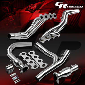 FOR 04-08 FORD F150/LOBO 5.4 V8 STAINLESS EXHAUST MANIFOLD LONG TUBE HEADER+BOLT