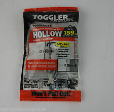 5x Genuine Toggler Anchors Hollow Walls Ceilings 159lbs Toggler 5TC