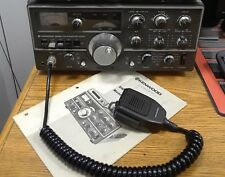 Ham radio transceiver kenwood ts-520s with 2 microphones & operation manual