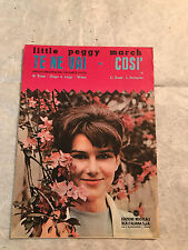 SPARTITO MUSICALE TE NEVAI COSI' LITTLE PEGGY MARCH ROSSI HUGO & LUIGI 1963 POP