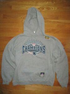 2003 NEW ENGLAND PATRIOTS Conference Champs On-Field (MED) Sweatshirt SB XXXVIII