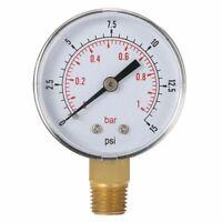 SODIAL R 0-12 Bar 0-170 PSI 10 mm Gewinde Gas Luftpumpe Druck Gauge Kom m7y 1X