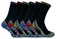 Mens Womens Moisture Wicking Heavy Duty Cotton Bamboo Work Boot Socks for Summer