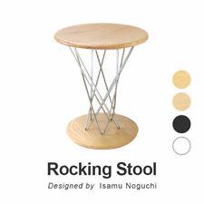 ISAMU NOGUCHI Rocking Stool Wood Chair H43cm 36x36cm Reproduct Furniture