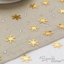 Luxury Christmas Tavolo Confetti-Oro Fiocchi Di Neve/cristalli-gamma completa di Natale in negozio