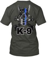 K-9 Handler Leo - K 9 Hanes Tagless Tee T-Shirt