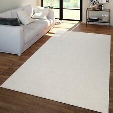 Wohnzimmer Teppich Unifarben Kurzflor Trendig Und Soft, Schlicht In Creme