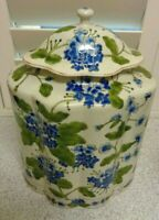 LOVELY Large VINTAGE Decorative HAND PAINTED FLORAL DES GINGER JAR 15 X 12 INCH