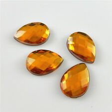 200pcs Orange Acrylic Cabochons Drop Cameo Flatback Crafts DIY Accessories 52417