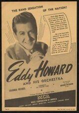1942 Eddy Howard photo music trade booking ad