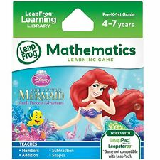 LEAP FROG LEARNING LIBRARY DISNEY LITTLE MERMAID NEW MATHEMATICS 4-7 YEARS